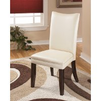 Set of 2 Contemporary White Dining Chairs - Charrell