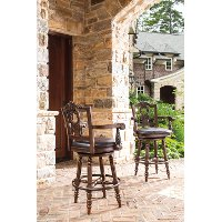 D553-130 Traditional Elegant Swivel Bar Stool - North Shore
