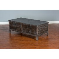 Rustic Dark Brown Coffee Table - Dundee