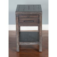 Rustic Kettle Black Side Table - Dundee