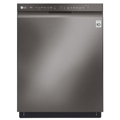 LDF5545BD LG Dishwasher with Front Controls - Black Stainless Steel
