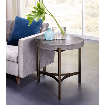 Contemporary Concrete End Table   Magnum