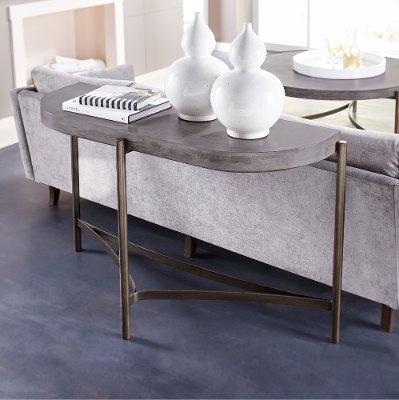 Contemporary Concrete Sofa Table   Magnum