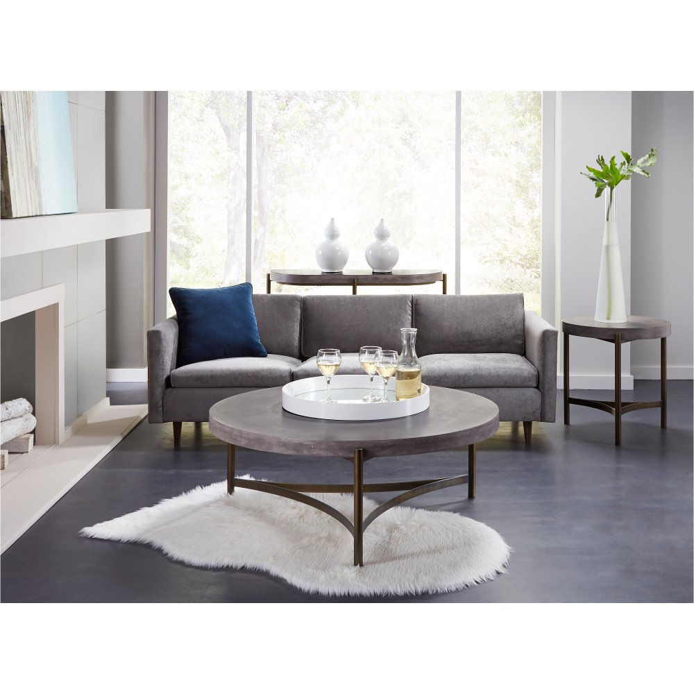 Contemporary Concrete Sofa Table - Magnum | RC Willey Furniture Store