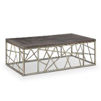Distressed Silver and Gray Coffee Table - Tribeca