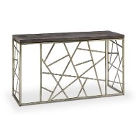 Distressed Silver and Gray Sofa Table - Tribeca