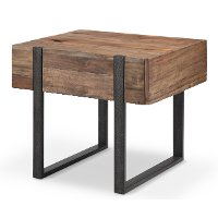 Rustic Honey Brown End Table - Prescott
