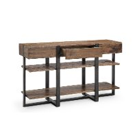 Rustic honey brown sofa table prescott rc willey for Sofa table rc willey