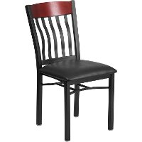 Wood and Metal Restaurant Chair
