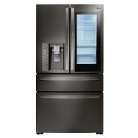 LMXS30796D LG InstaView French Door Refrigerator - 30 Inch Black Stainless Steel