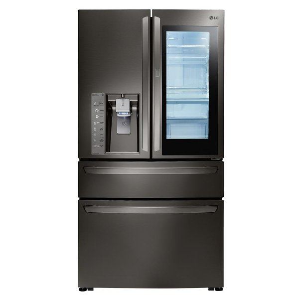 LMXS30796D LG InstaView French Door Refrigerator   30 Inch Black Stainless  Steel