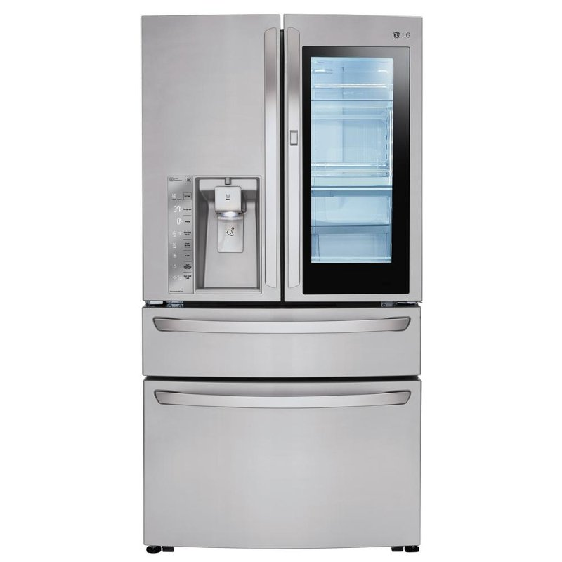 Lg 4 Door French Refrigerator With Instaview In 36 Inch Stainless Steel Rc Willey Furniture