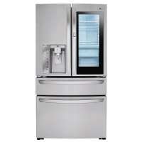 LMXS30796S LG 4 Door French Door-in-Door Smart Refrigerator - 29.7 cu. ft., 36 Inch Stainless Steel