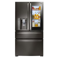 LMXC23796D LG French Door Refrigerator - 36 Inch Black Stainless Steel Counter Depth