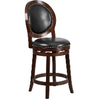 Transitional Swivel Counter Height Stool