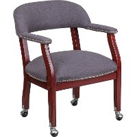Gray Captain's Conference Chair
