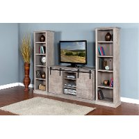 Rustic Gray 3 Piece Contemporary Entertainment Center
