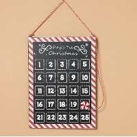 Metal Days Til Christmas Countdown with Peppermint Magnet
