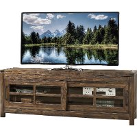 101914-105025 74 Inch Burnished Walnut Brown TV Stand - St. Croix