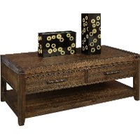 101919-105035 Burnished Walnut Brown Coffee Table - St. Croix
