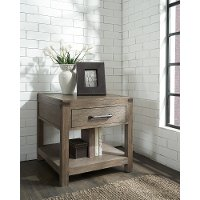 101919-105040 Burnished Walnut Brown End Table - St. Croix