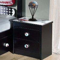Black 2-Drawer Nightstand - Kickflip