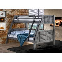 Gray Twin-over-Full Bunk Bed - Easton