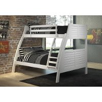White Bunk Bed - Easton