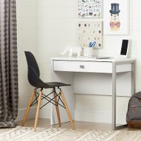 10535 White Desk with 1 Drawer - Interface