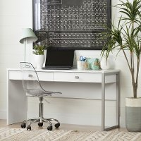 10536 White Desk with 2 Drawers - Interface