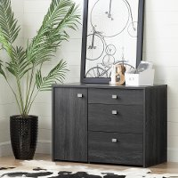 10539 Gray Oak Storage Unit with File Drawer - Interface