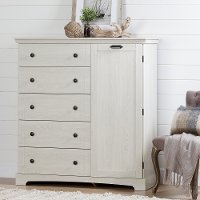 10246 Winter Oak  Chest with 5 Drawers - Avilla