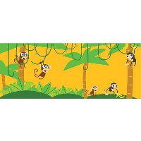 1180287 PBS Kids Jungle Monkeys