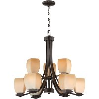 Dark Bronze Nine-Light Chandelier - Orazio