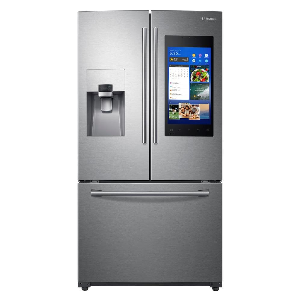 Samsung 36 Inch 3 -Door French Door Refrigerator with Family Hub 2.0 -  Stainless Steel | RC Willey Furniture Store