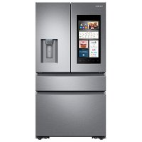RF23M8570SR Samsung 36 Inch 4-Door French Door Refrigerator with Family Hub 2.0 and Recessed Handles Counter Depth - Stainless Steel