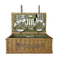26152 Beige Picnic Basket for 4 - Willow