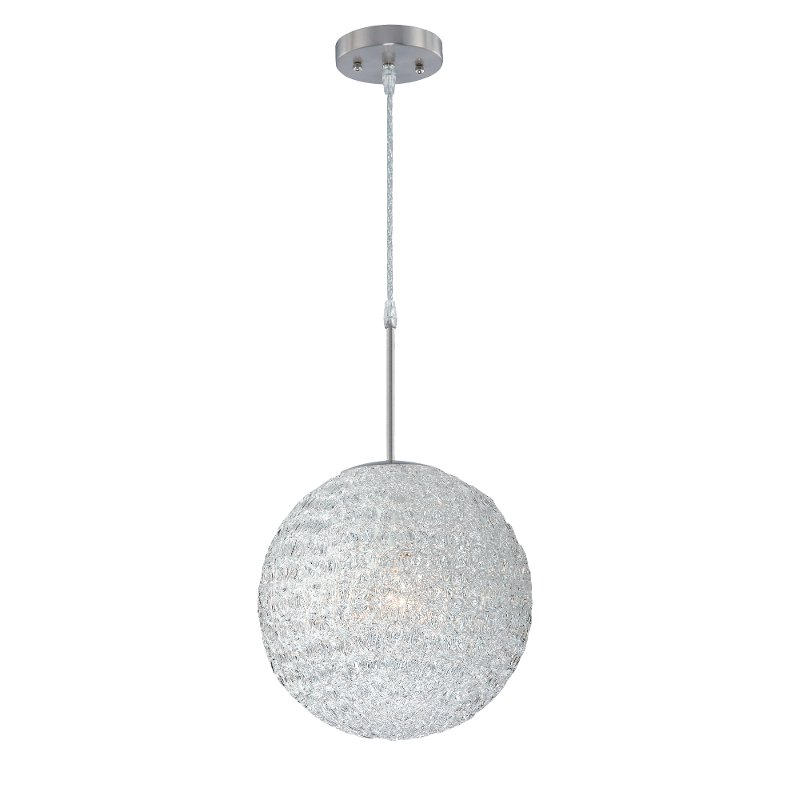 Enhance the interior of your dwelling with the pleasant, incandescent atmosphere of this captivating 1-light pendant. The modern contempo mini pendant style is sure to complement any kitchen or dining room. Indulge your practical side with the superior craftsmanship of this fixture. Available for Online Purchase Only. Not eligible for 5 Star Express Delivery. Globe acrylic shade Requires (1) 60 watt medium (E26) bulb Designed to cast a soft ambient light over a wide area Must be hardwired