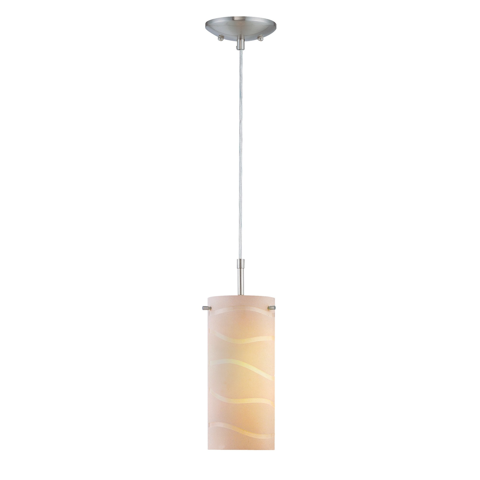 Pendant Lamp with White Glass Shade - Pacifica