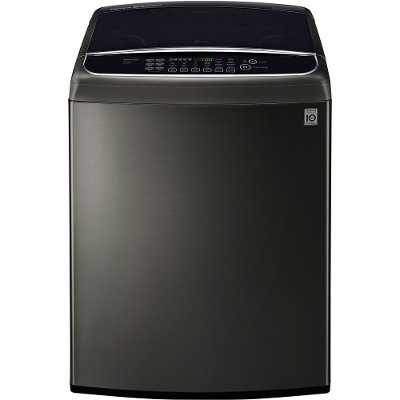 WT1901CK LG Front Control Top Load Washer - 5.0 cu. ft. Black Stainless Steel