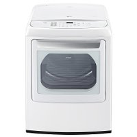 DLEY1901WE LG 7.3 cu. ft. Ultra Large Capacity Front Control Electric Dryer with EasyLoad Door - White