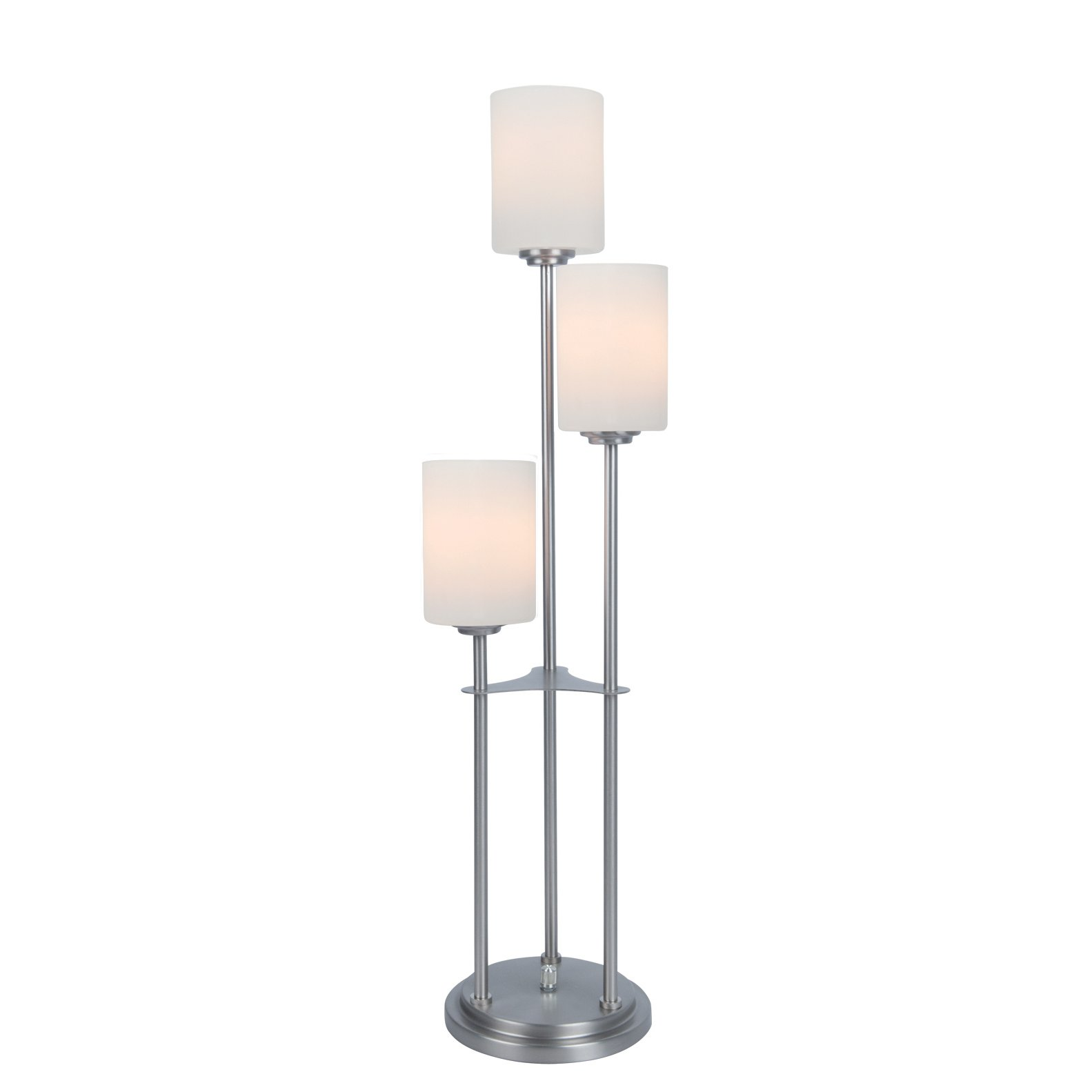 Brushed Nickel Metal Staggered 3 Light Table Lamp Bess
