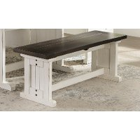 Two-Tone French Country Side Dining Bench - Bourbon County