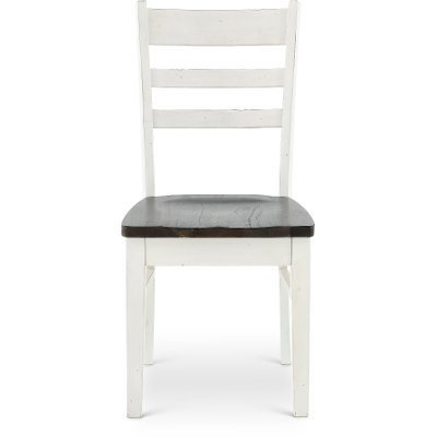 French Country White Two-Tone Dining Chair - Bourbon County