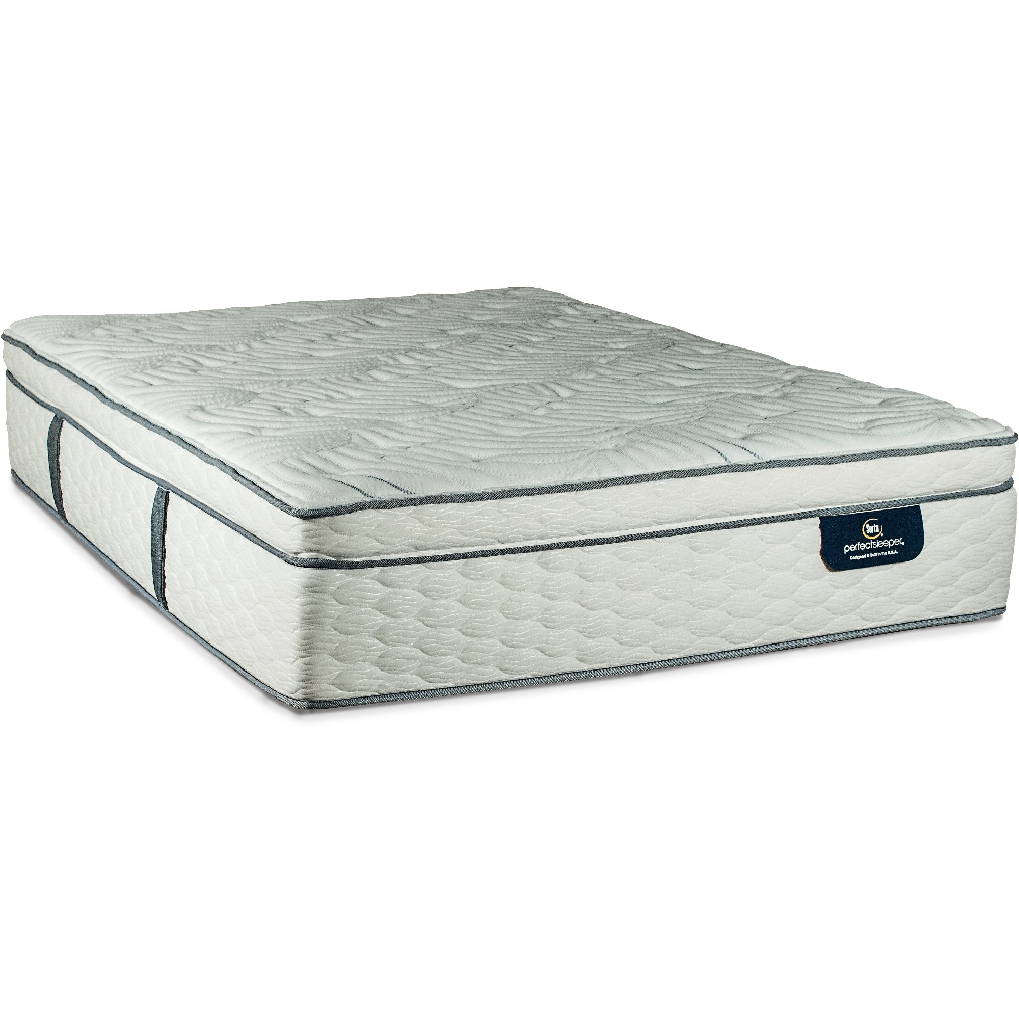 mattress perfect pillowtop image queensize sleeper iv with box spring cheshire serta
