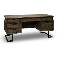 Fossil Brown Executive Desk - Harper Point