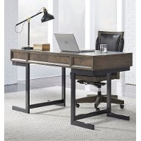 Fossil Brown Writing Desk - Harper Point