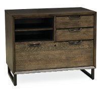 Fossil Brown 3 Drawer Combination File Cabinet - Harper Point