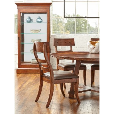 Dark Brown Round Dining Table - Aspen