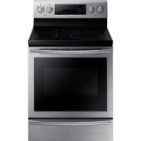 NE59J7750WS Samsung  5.9 cu. ft. Electric Flex Duo Range with Soft Close Door - Stainless Steel